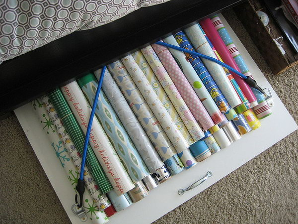 19 wrapping paper storage - Creative Wrapping Paper Storage Ideas
