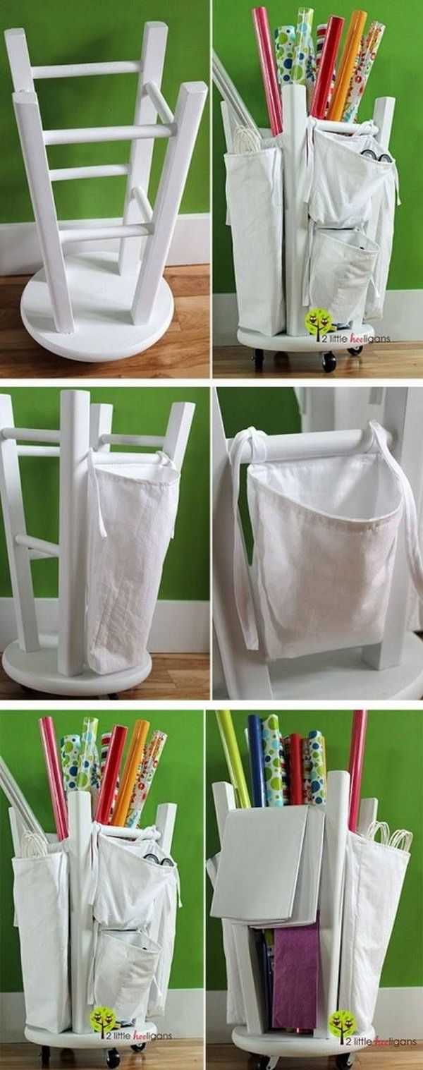 5 wrapping paper storage - Creative Wrapping Paper Storage Ideas