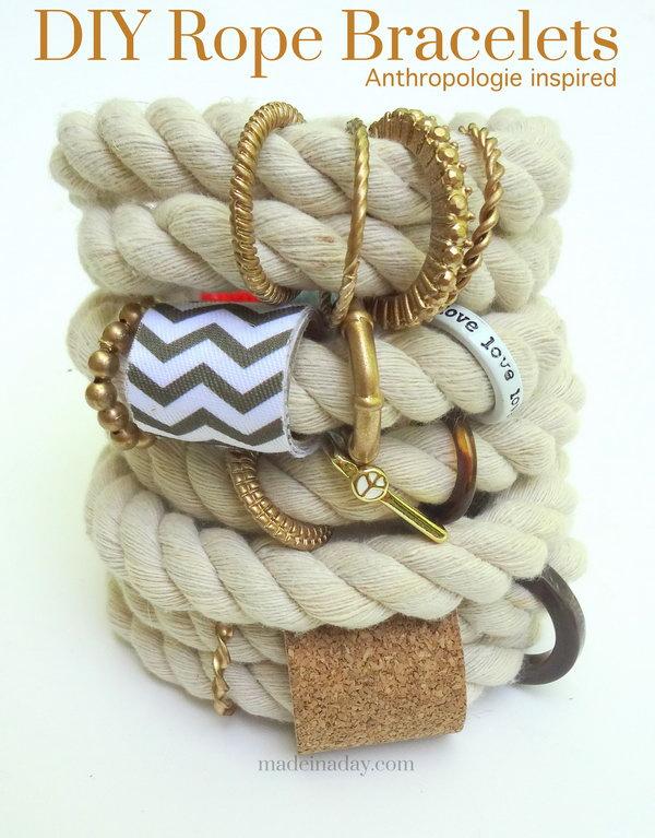 7 rope crafts - 25 DIY Rope Craft Ideas