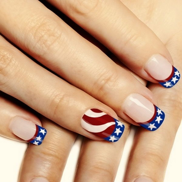25 american flag stripes stars nails - 30+ American Flag Inspired Stripes and Stars Nail Ideas & Tutorials