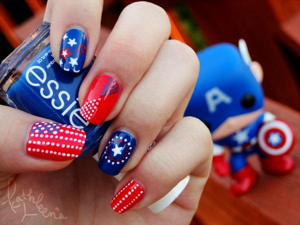 26 american flag stripes stars nails - 30+ American Flag Inspired Stripes and Stars Nail Ideas & Tutorials