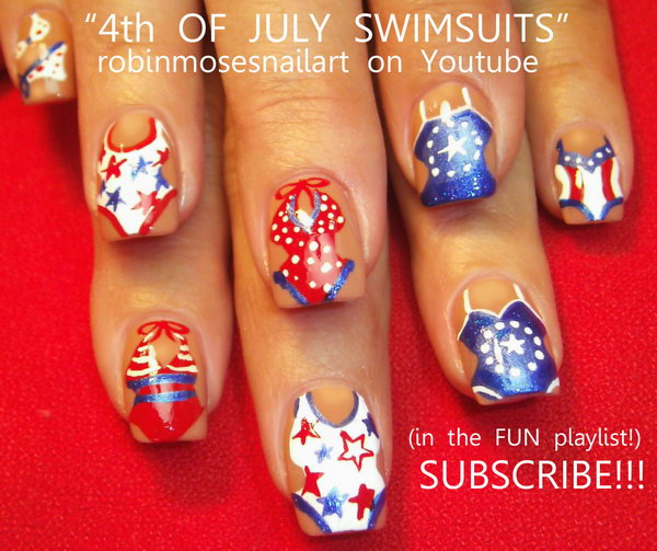 16 cute 4th of july patriotic nail art - 36 Cute 4th of July Patriotic Nail Art Ideas