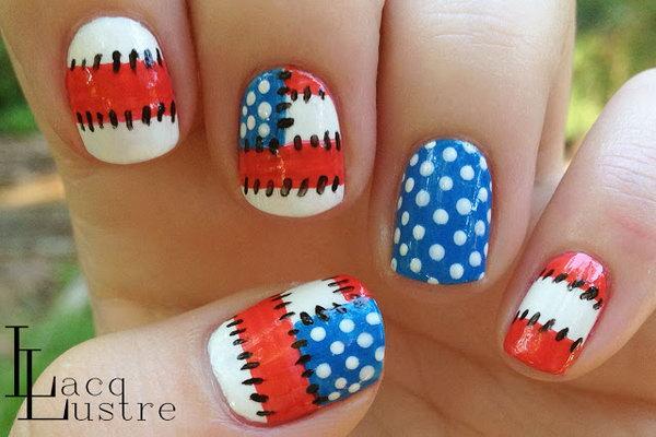 18 cute 4th of july patriotic nail art - 36 Cute 4th of July Patriotic Nail Art Ideas