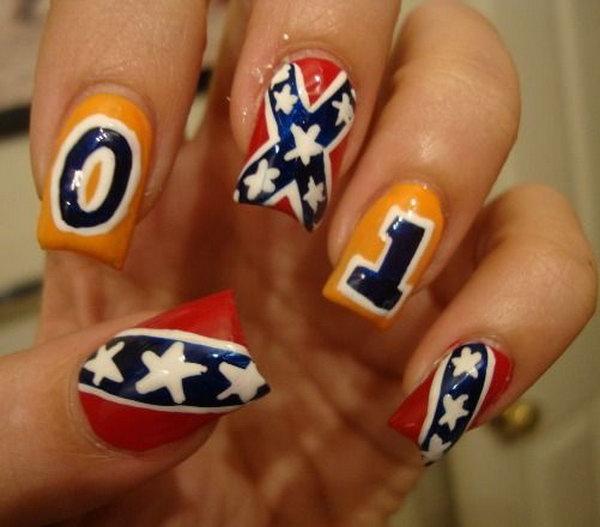 2 cute 4th of july patriotic nail art - 36 Cute 4th of July Patriotic Nail Art Ideas