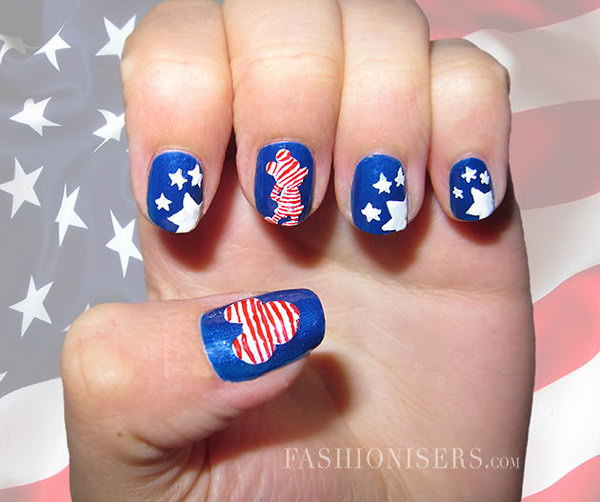 23 cute 4th of july patriotic nail art - 36 Cute 4th of July Patriotic Nail Art Ideas