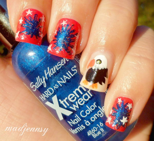 24 cute 4th of july patriotic nail art - 36 Cute 4th of July Patriotic Nail Art Ideas