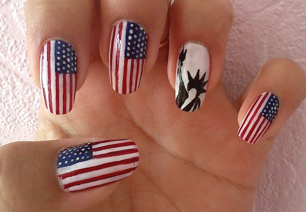 3 cute 4th of july patriotic nail art - 36 Cute 4th of July Patriotic Nail Art Ideas