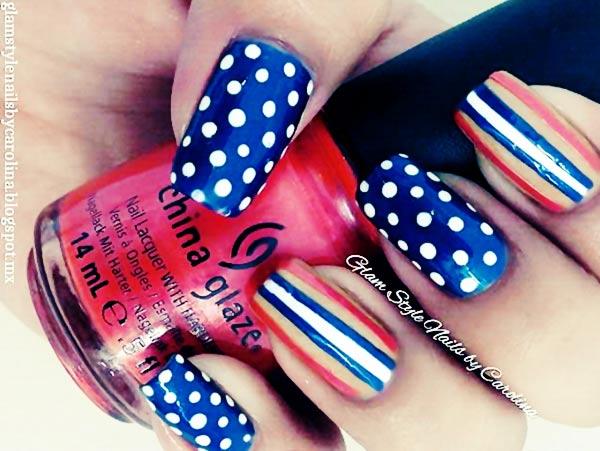 30 cute 4th of july patriotic nail art - 36 Cute 4th of July Patriotic Nail Art Ideas