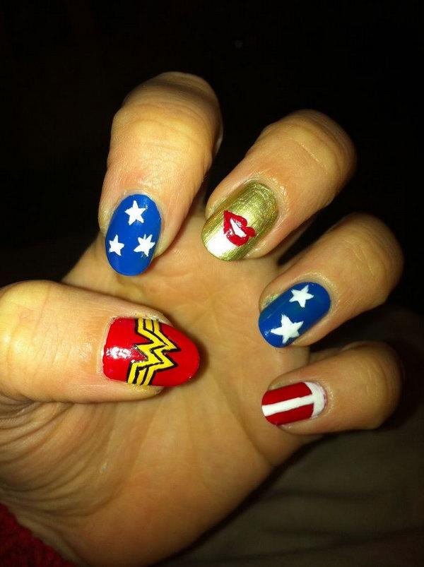 33 cute 4th of july patriotic nail art - 36 Cute 4th of July Patriotic Nail Art Ideas