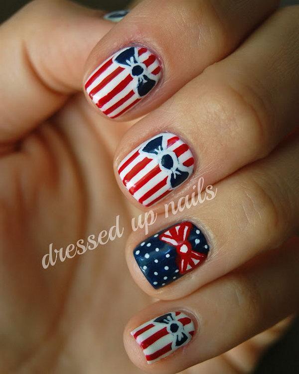 37 cute 4th of july patriotic nail art - 36 Cute 4th of July Patriotic Nail Art Ideas
