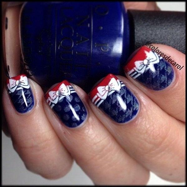 40 cute 4th of july patriotic nail art - 36 Cute 4th of July Patriotic Nail Art Ideas