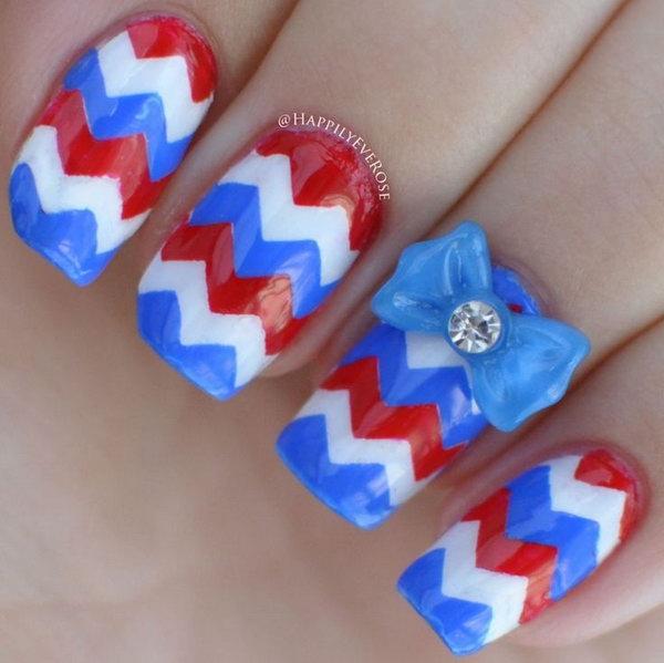 42 cute 4th of july patriotic nail art - 36 Cute 4th of July Patriotic Nail Art Ideas