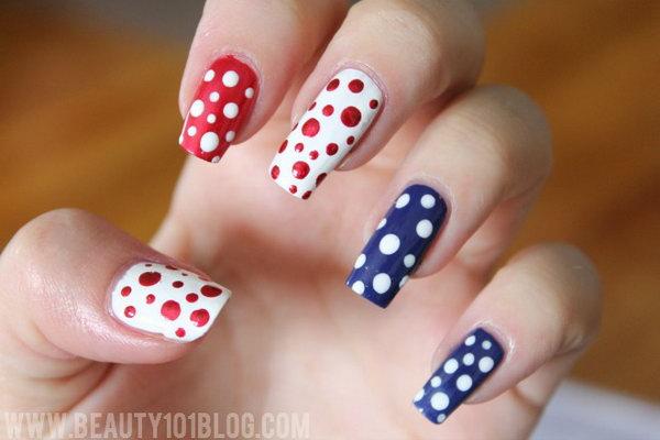 7 cute 4th of july patriotic nail art - 36 Cute 4th of July Patriotic Nail Art Ideas