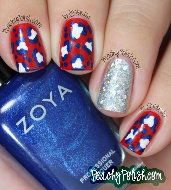 17 glitter 4th of july nails - 20+ Glitter 4th of July Nail Art Ideas & Tutorials