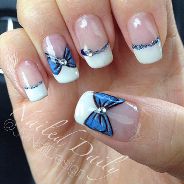 60 Fashionable French Nail Art Designs And Tutorials Styletic On White Tip Nails With