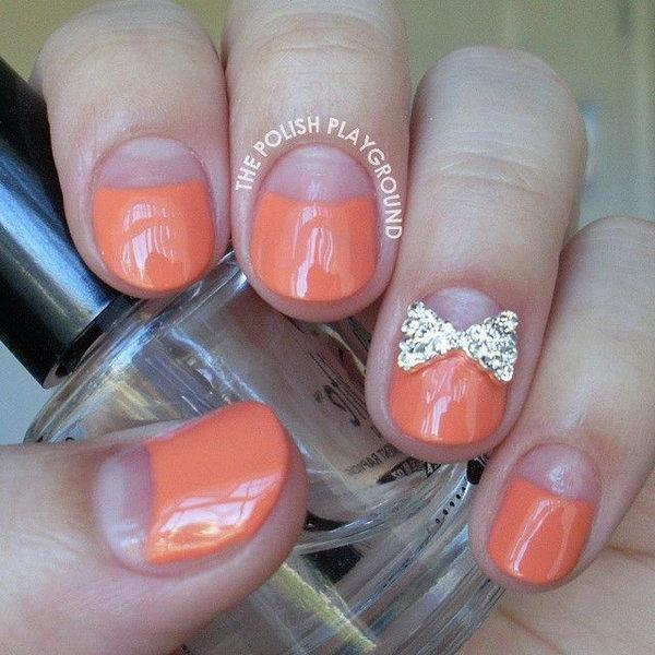 22 bow nail design ideas - 45 Wonderful Bow Nail Art Designs