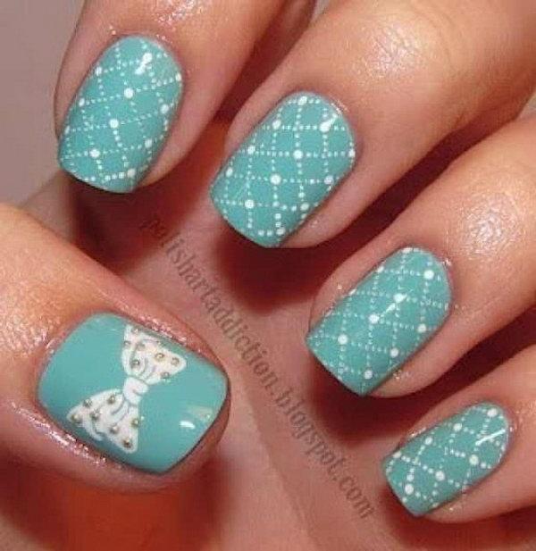 33 bow nail design ideas - 45 Wonderful Bow Nail Art Designs