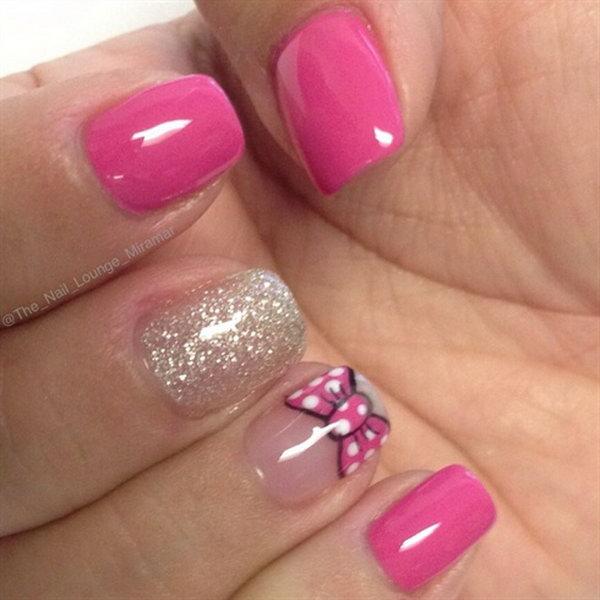 35 bow nail design ideas - 45 Wonderful Bow Nail Art Designs
