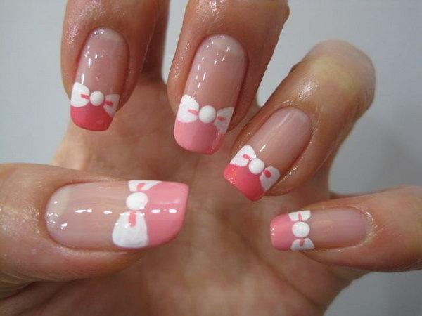 38 bow nail design ideas - 45 Wonderful Bow Nail Art Designs