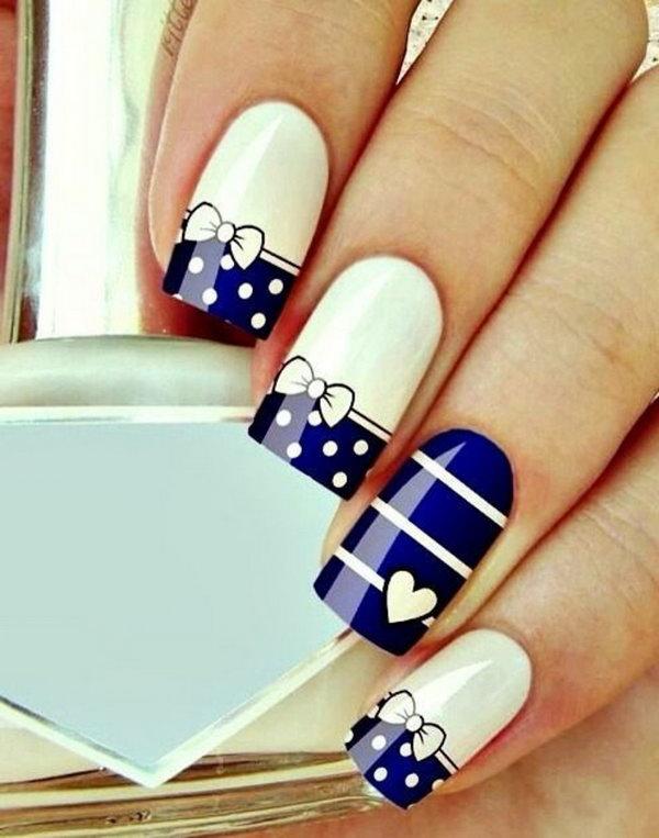39 bow nail design ideas - 45 Wonderful Bow Nail Art Designs