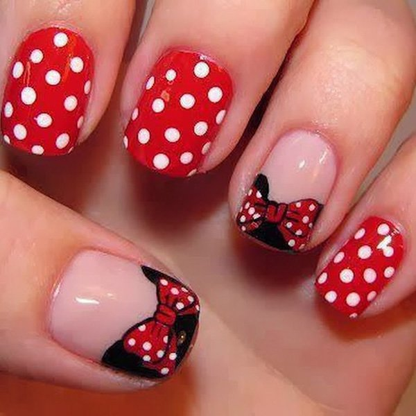 6 bow nail design ideas - 45 Wonderful Bow Nail Art Designs