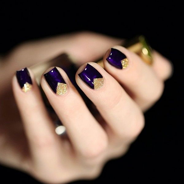 1 purple nail art designs - 30+ Trendy Purple Nail Art Designs You Have to See