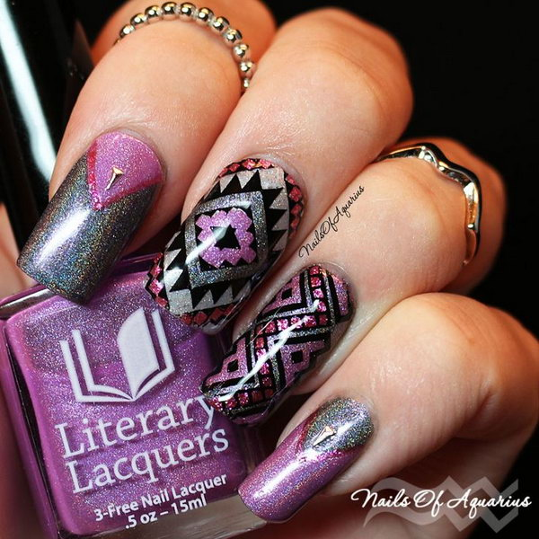 14 purple nail art designs - 30+ Trendy Purple Nail Art Designs You Have to See