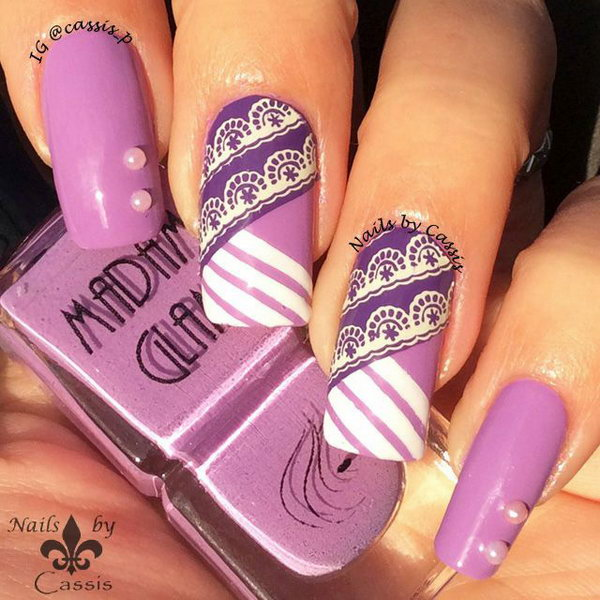 27 purple nail art designs - 30+ Trendy Purple Nail Art Designs You Have to See