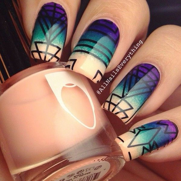 3 purple nail art designs - 30+ Trendy Purple Nail Art Designs You Have to See