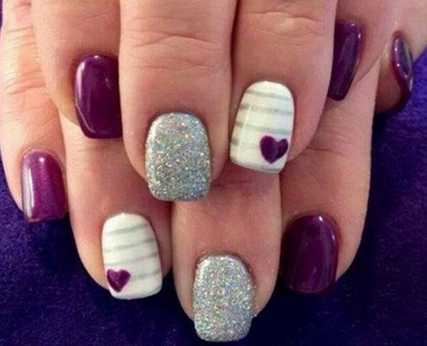 35 purple nail art designs - 30+ Trendy Purple Nail Art Designs You Have to See