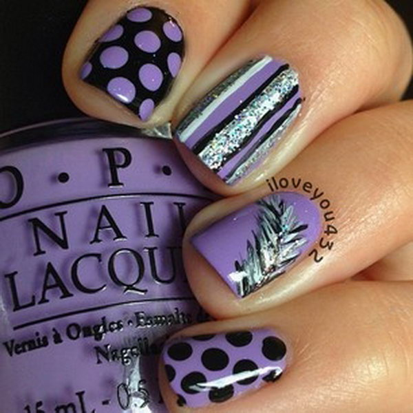39 purple nail art designs - 30+ Trendy Purple Nail Art Designs You Have to See