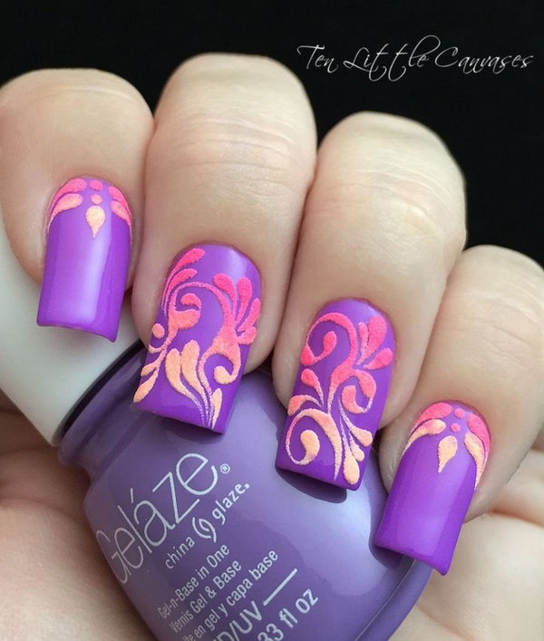 9 purple nail art designs - 30+ Trendy Purple Nail Art Designs You Have to See