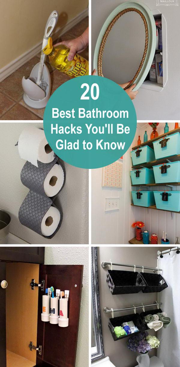 best bathroom hacks - 20 Best Bathroom Hacks You'll Be Glad to Know