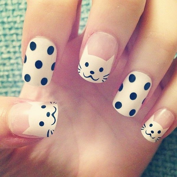 14 black and white nail designs - 80+ Black And White Nail Designs