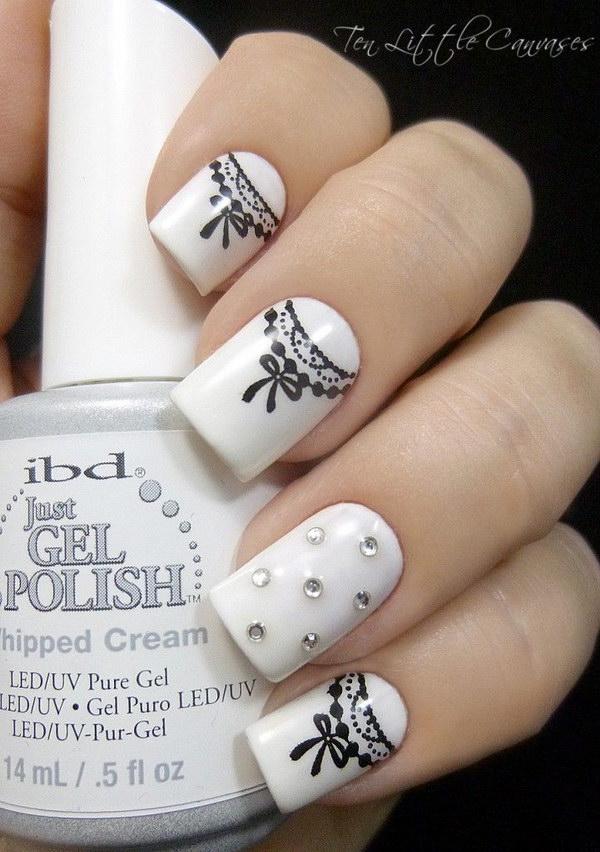 15 black and white nail designs - 80+ Black And White Nail Designs