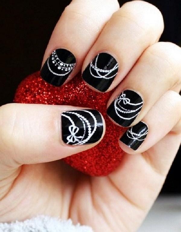 20 black and white nail designs - 80+ Black And White Nail Designs