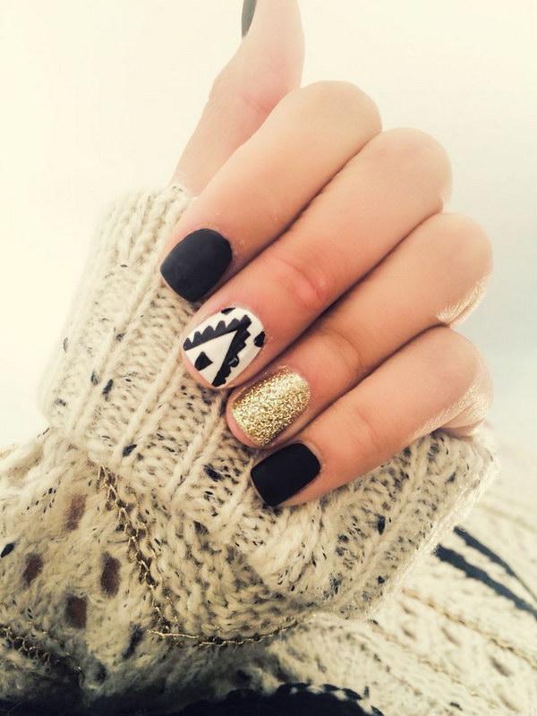27 black and white nail designs - 80+ Black And White Nail Designs