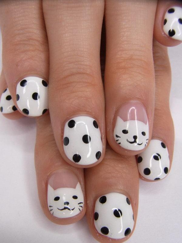 28 black and white nail designs - 80+ Black And White Nail Designs