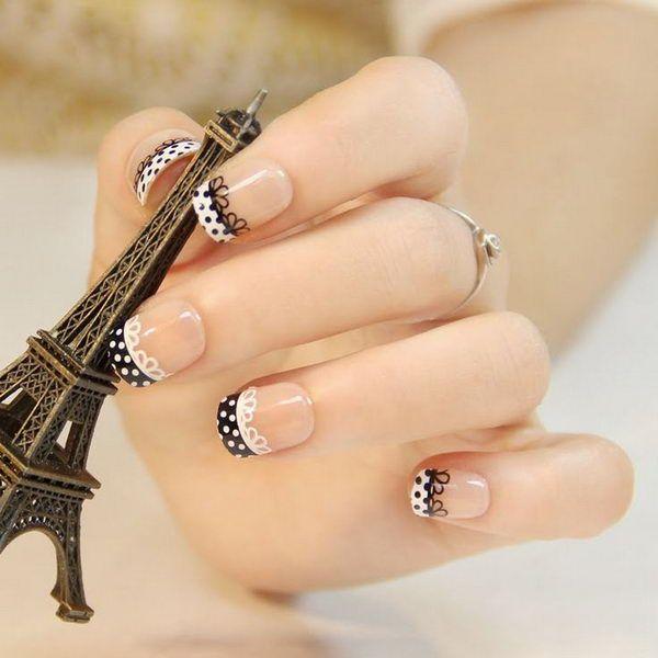3 black and white nail designs - 80+ Black And White Nail Designs