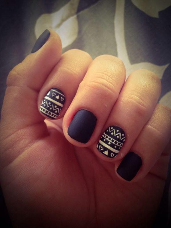43 black and white nail designs - 80+ Black And White Nail Designs