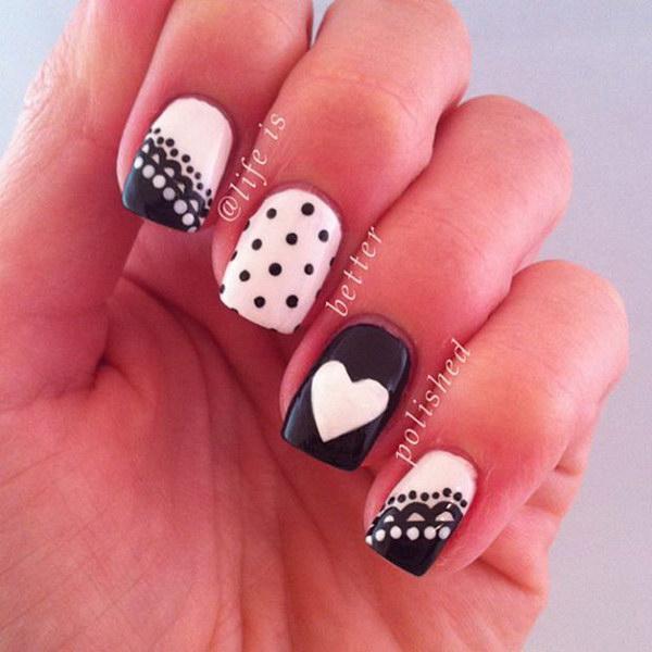 48 black and white nail designs - 80+ Black And White Nail Designs