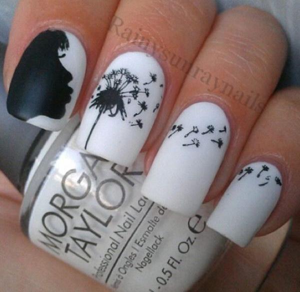 51 black and white nail designs - 80+ Black And White Nail Designs