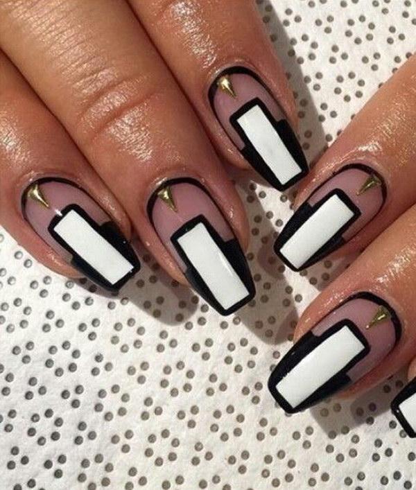 58 black and white nail designs - 80+ Black And White Nail Designs