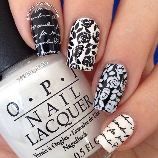 73 black and white nail designs - 80+ Black And White Nail Designs
