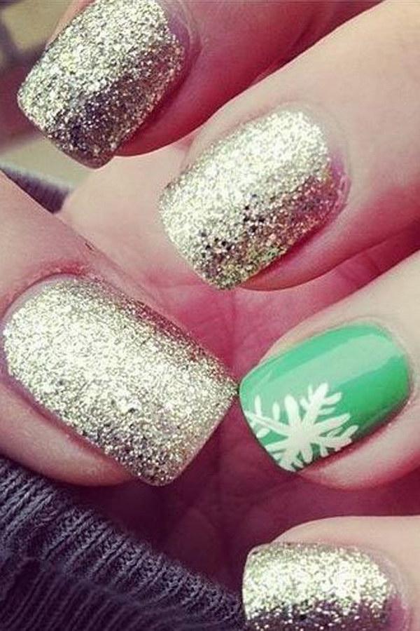 24 christmas nail art designs - 50 Festive Christmas Nail Art Designs