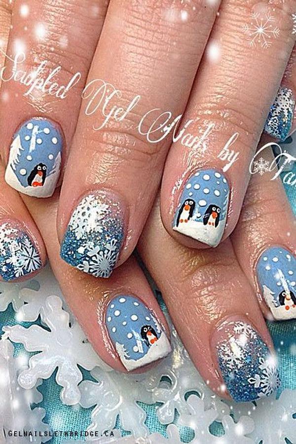 25 christmas nail art designs - 50 Festive Christmas Nail Art Designs