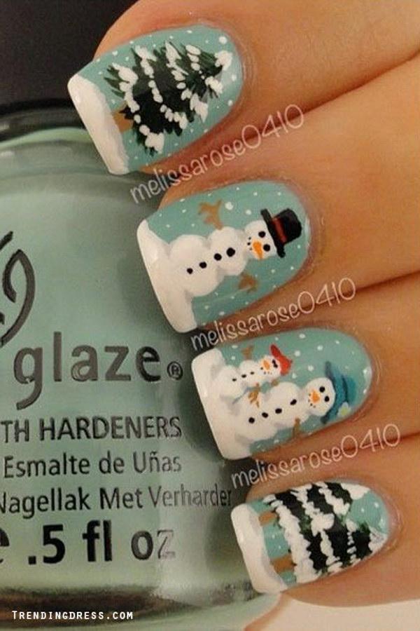 27 christmas nail art designs - 50 Festive Christmas Nail Art Designs