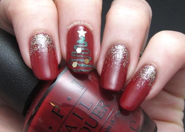 30 christmas nail art designs - 50 Festive Christmas Nail Art Designs