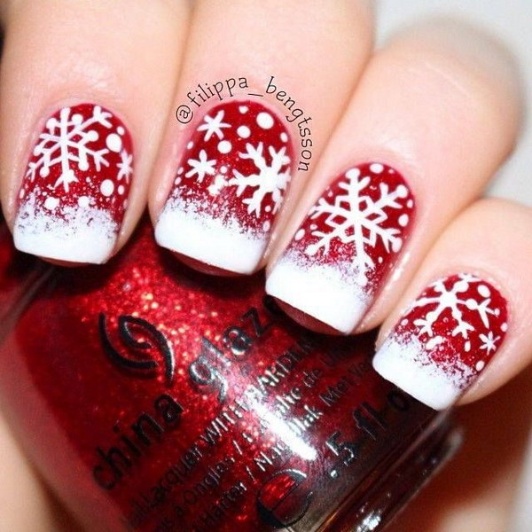 4 christmas nail art designs - 50 Festive Christmas Nail Art Designs