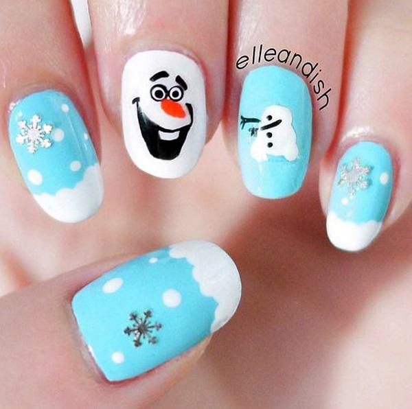 5 christmas nail art designs - 50 Festive Christmas Nail Art Designs